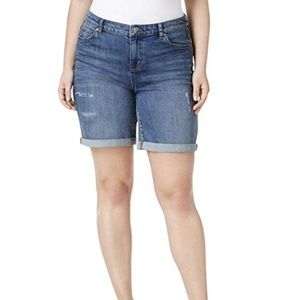 Style&Co Jean Shorts Denim Cotton Destructed Cuff